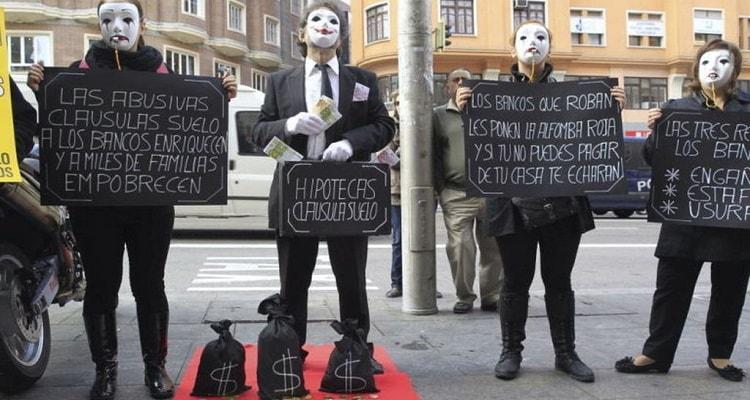 Manifestación clausulas abusivas indignados