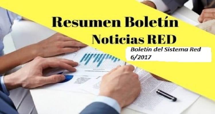 Boletín del Sistema Red 6/2017
