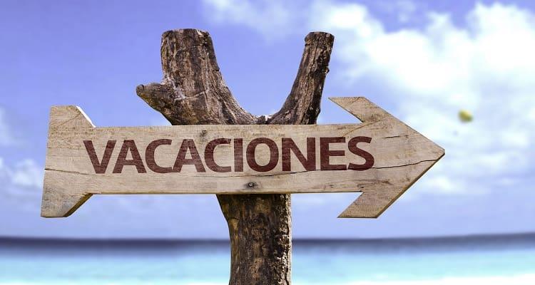 cartel vacaciones