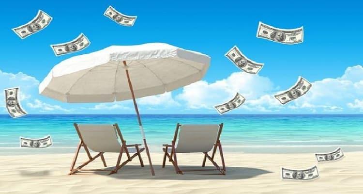 playa vacaciones dinero