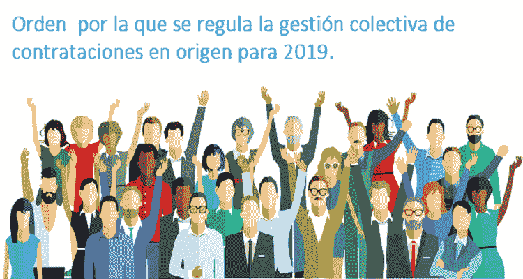 Orden por la que se regula la gestión colectiva de contrataciones en origen para 2019.