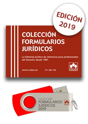 USB. Formularios Jurídicos 2019