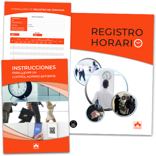 Carpeta de Registro Horario + Instrucciones + Hojas registro