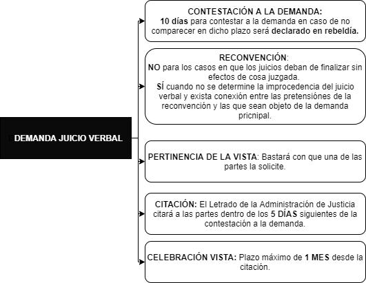 Demanda En El Juicio Verbal Del Proceso Civil Iberley