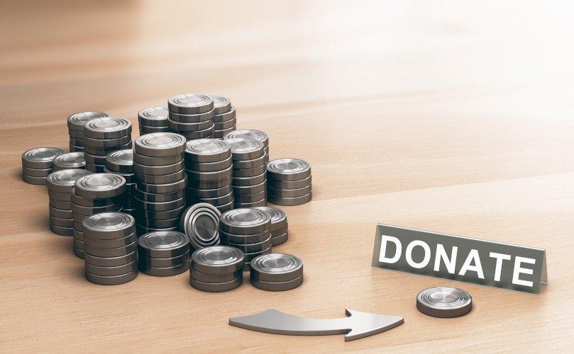 Fichas donativo donación dinero