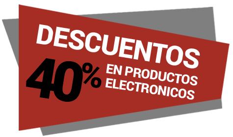 40% descuento en productos electronicos