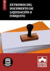 Extremos del documento de liquidación o finiquito