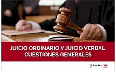 CURSO SOBRE LA REGULACIÓN BÁSICA DEL JUICIO ORDINARIO Y JUICIO VERBAL