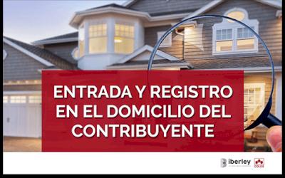CURSO SOBRE EL ANÁLISIS DE LA ENTRADA Y REGISTRO EN EL DOMICILIO DEL CONTRIBUYENTE