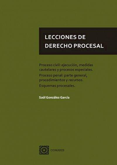 Lecciones de derecho procesal. Proceso civil, ejecución, medidas cautelares y procesos especiales. Proceso penal: