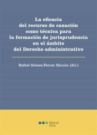 Eficacia del recurso de casación como técnica para la formación de jurisprudencia en el ámbito del Derecho administrativo