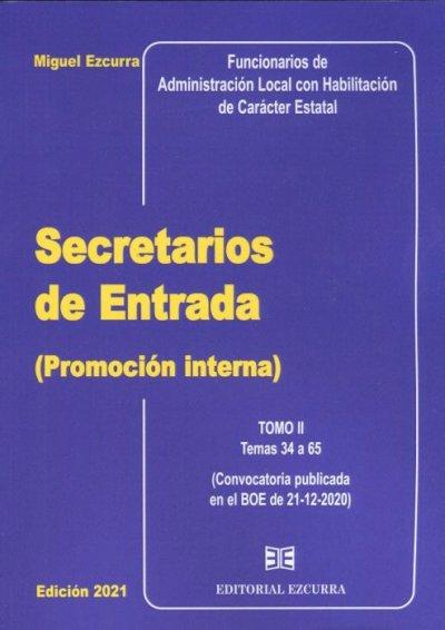 Secretarios de Entrada (Promoción interna) 2 Vol. 2021