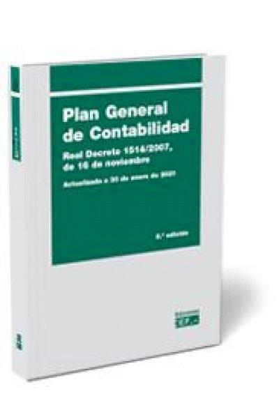 Plan general de contabilidad 2021 Real Decreto 1514/2007, de 16 de noviembre