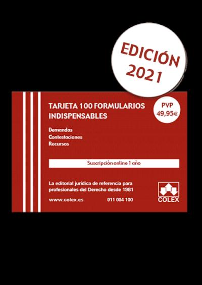 Tarjeta 100 Formularios Jurídicos imprescindibles