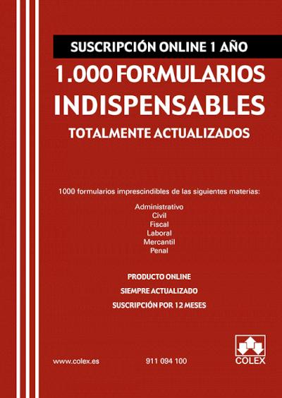 Suscripción 1.000 formularios indispensables