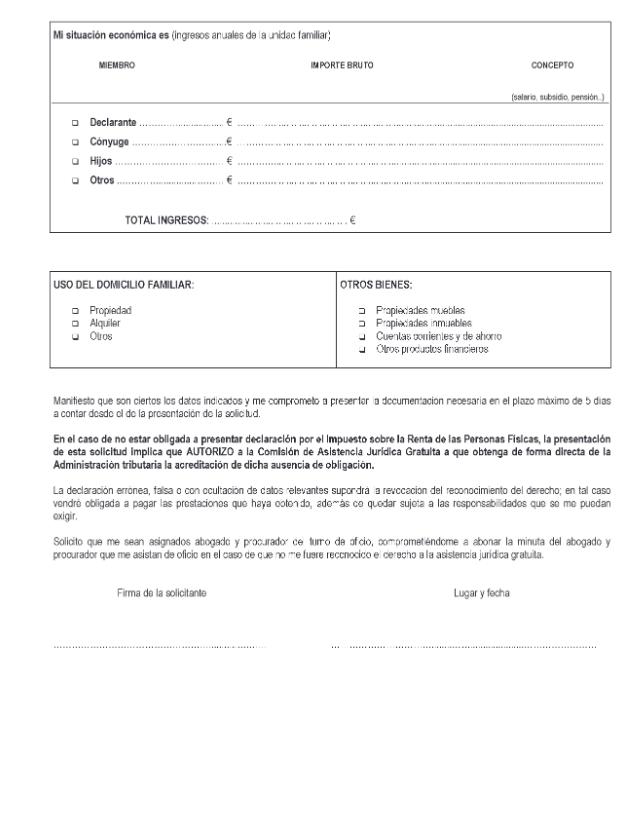 ANEXO I.IV. Solicitud del derecho de asistencia jurídica gratuita para la defensa y representación letrada a la mujer víctima de violencia de género