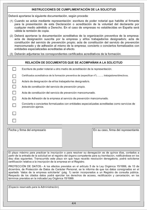 ANEXO I. Modelos de declaración empresarial ante el Registro de Empresas Acreditadas