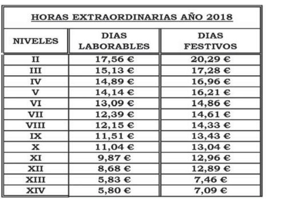 ANEXO IX. HORAS EXTRAORDINARIAS