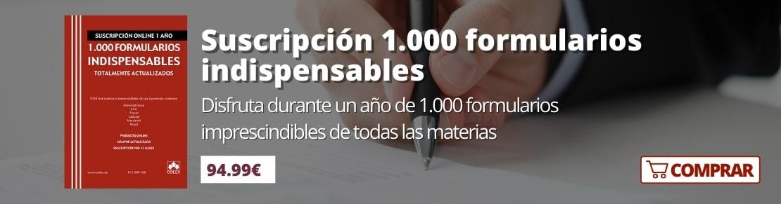 Suscripción 1000 formularios indispensables